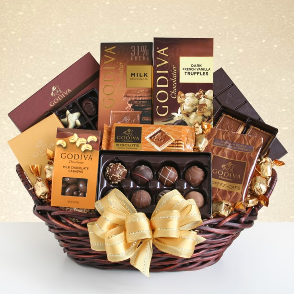 Grand Godiva Gift Basket For Mom