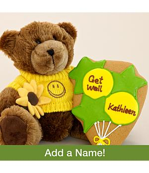 Get Well Bear with Personalizable Cookie
