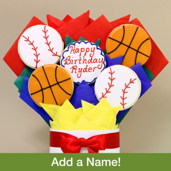 Happy Birthday Sports Cookie Bouquet- 5 Piece