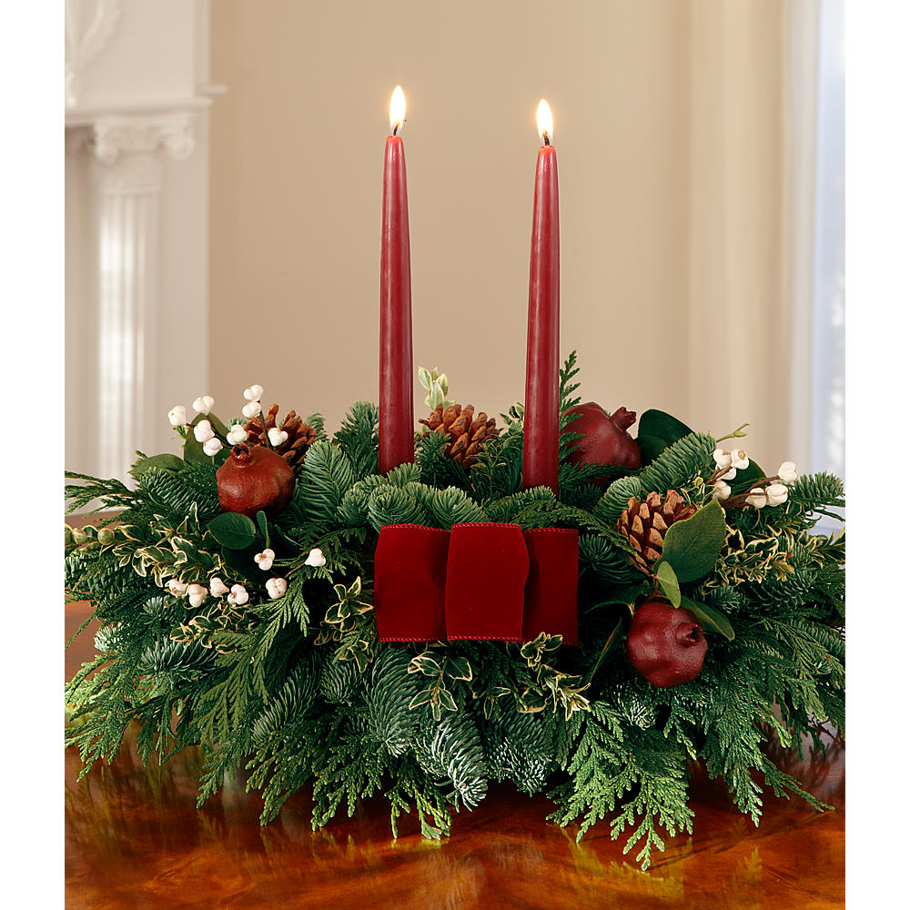 Christmas Centerpiece Order : Order holiday centerpieces send