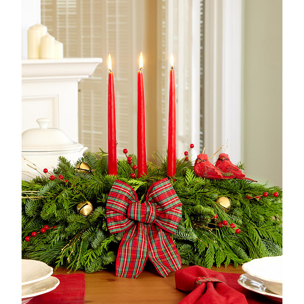 Order holiday centerpieces send