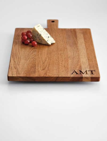 personalizable hickory cheese + bread board
