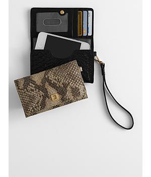 cassie snakeskin smartphone wallet