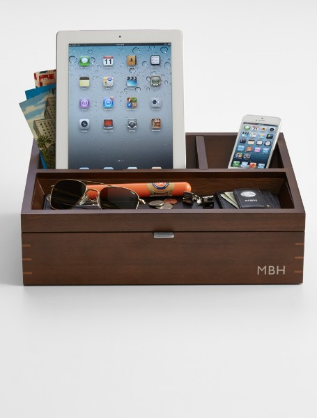 wood charging station + valet