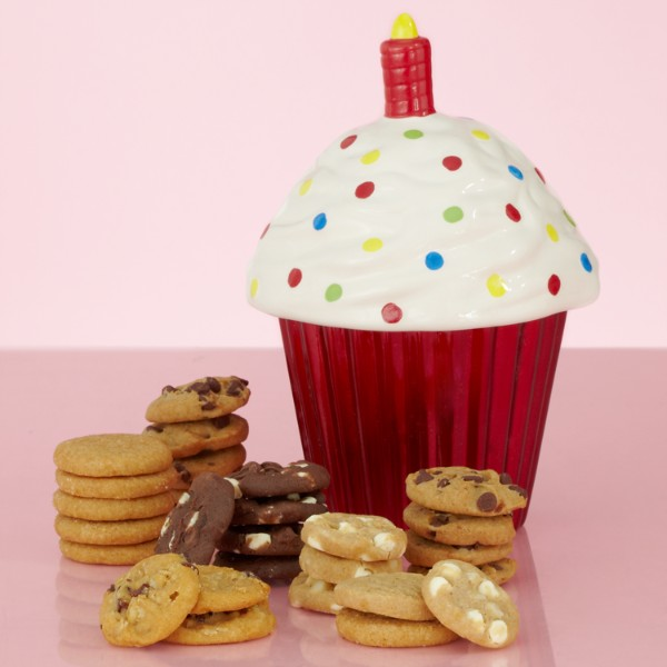 Birthday Cupcake Cookie Jar With Mrs. Fields Nibblers