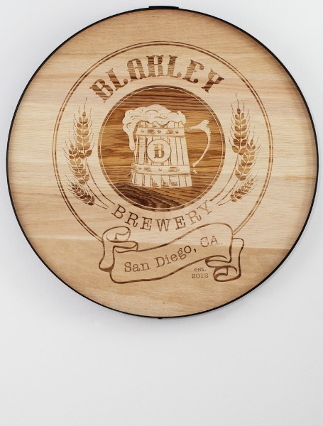 craft beer barrel sign