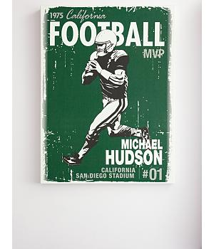 personalized vintage football wall art