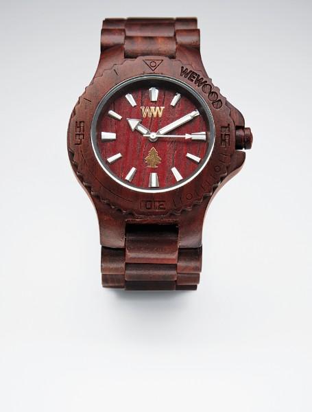 brown natural wooden watch