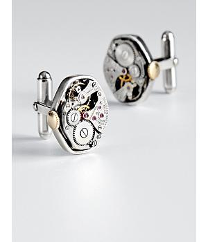 watch movement cuff links- original