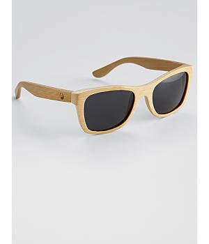 panda wood monroe sunglasses - natural