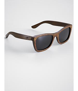 brown monroe PANDA wood sunglasses