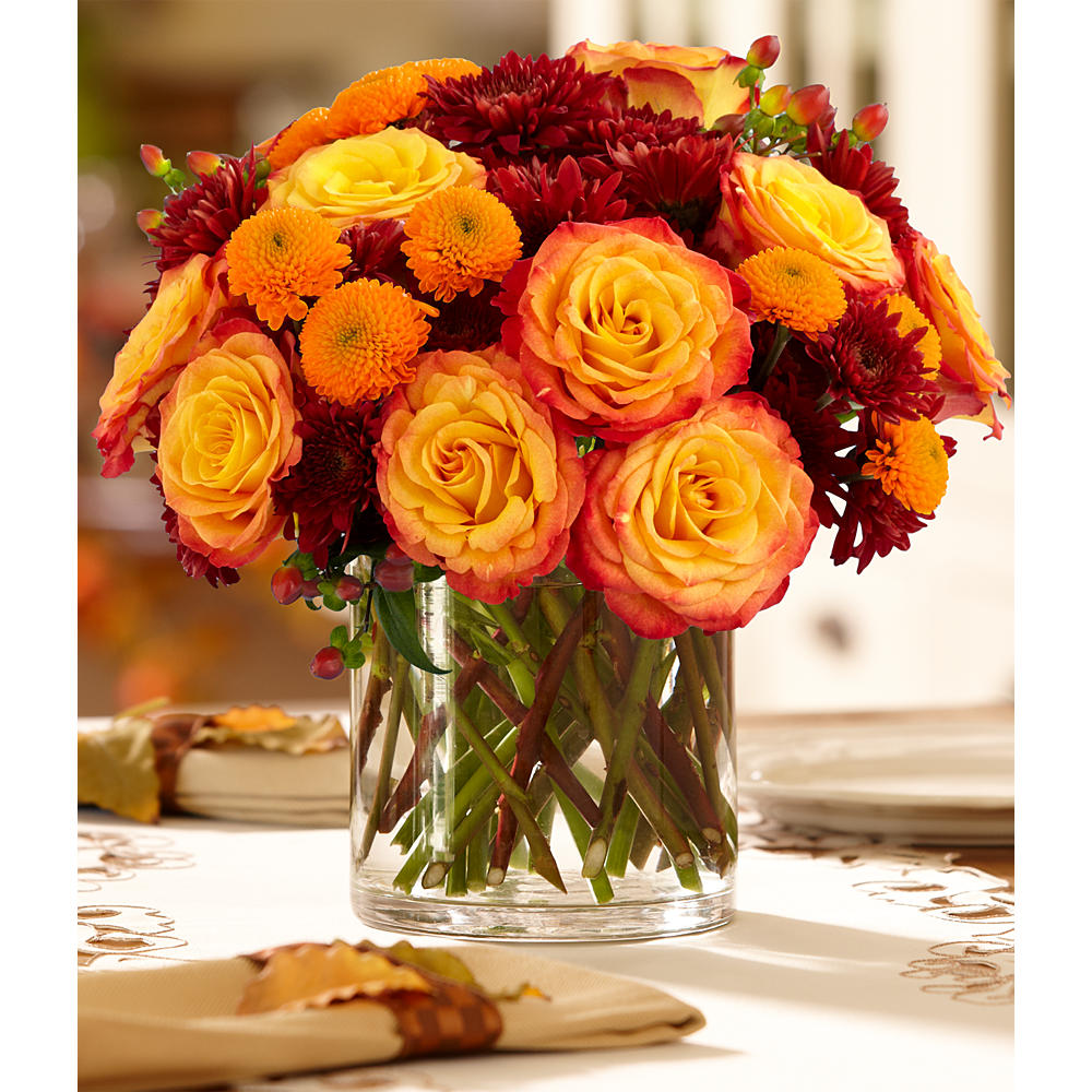Fall Rose Centerpiece