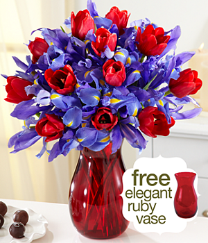 Hugs & Kisses w/ Free Ruby Vase