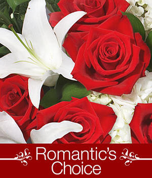 Romantic's Choice with FREE Vase, Bear & Chocolates
