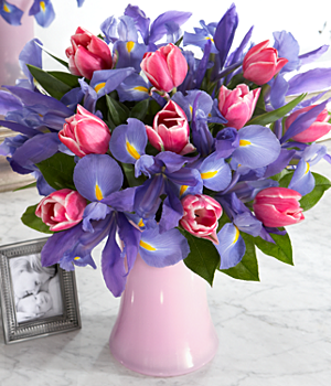 Flowers – Spring Blooms Flower Bouquet with Vase
