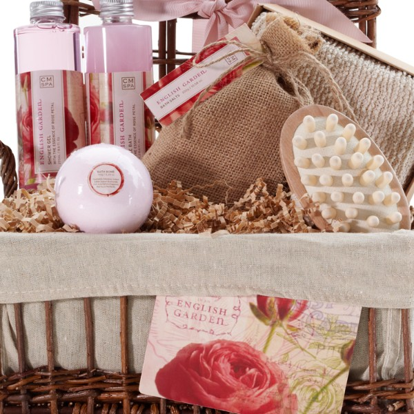 Rose Petal Calming Bath & Body Spa Basket