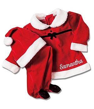 Baby Girl Santa Suit