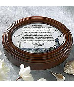 In Memory Oval Music Box - Amazing Grace