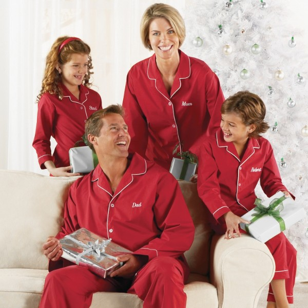 Personalized Kids Red Pajamas - XL