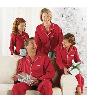 Personalized Red Christmas Pajamas for Girls