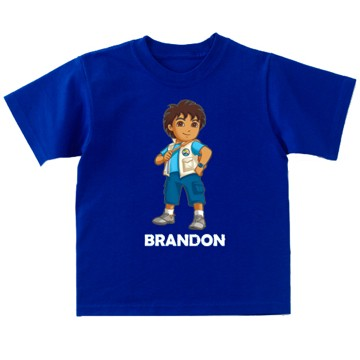 Personalized Diego Short Sleeve T-Shirt - S (6-8)