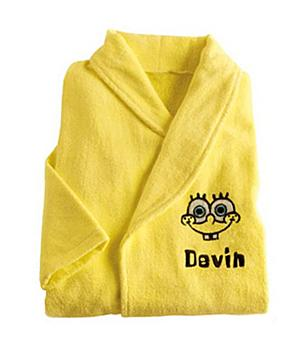 Personalized SpongeBob Robes for Kids