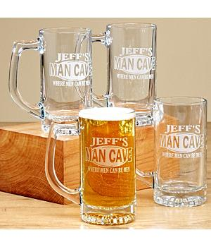Man Cave Mugs - Set of 4 - 13 Oz.
