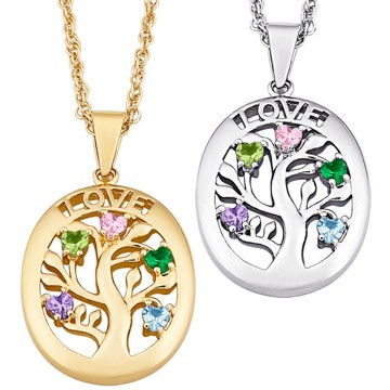 Birthstone Jewelry Family Tree For Mom