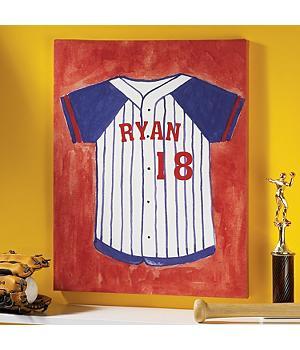 Baseball Jersey Canvas Print