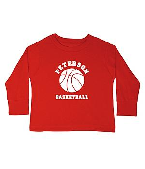 Sports Youth LS T-shirt-Red-S(6-8)