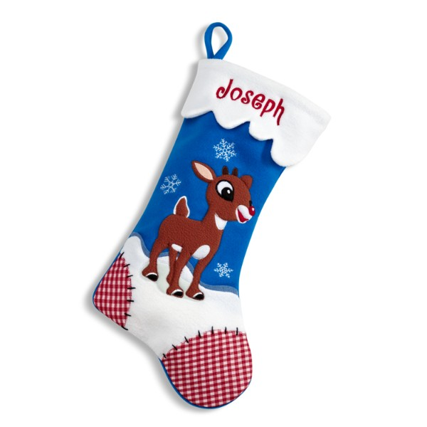 Personalized Rudolph Character Stocking - Rudolph - Christmas Stockings