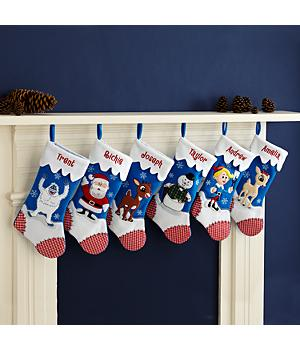 Personalized Rudolph Character Stockings - Christmas Stockings