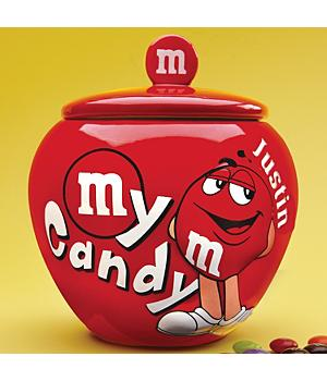 Personalized M & M Candy Jars