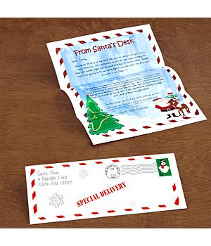 Personalized Santa and Rudolph the Red-Nosed Reindeer Letter