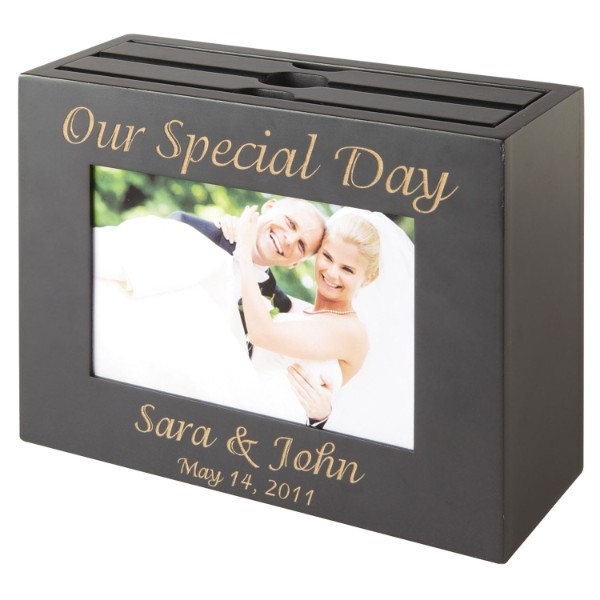 Personalized Wedding Photo Album Box-Black - Wedding Gift