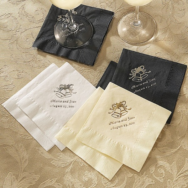 Personalized Wedding Cocktail Napkins - Set of 100