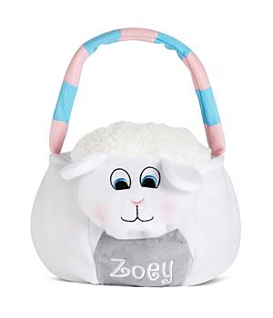 Personalized Plush Easter Basket - Lamb