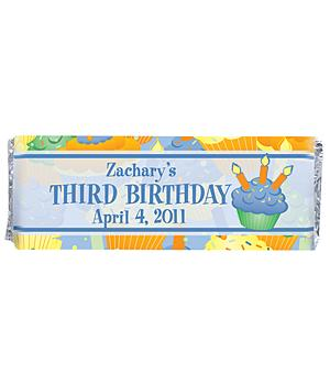 Birthday Candy Bar Wrappers (set of 30)-Blue