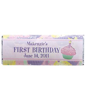 Birthday Candy Bar Wrappers (set of 30)-Pink
