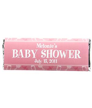 Baby Shower Candy Bar Wrappers (set of 30)-Pink