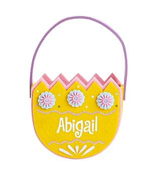 Springtime Egg Basket - Yellow