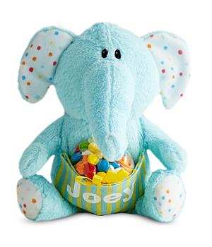 Personalized Birthday Gifts - Birthday Plush Pocket Pet - Blue Elephant