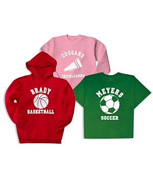 Sports T-Shirt, Long-Sleeve Shirt and Hoodie