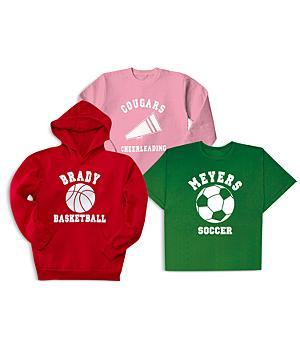 Sports T-Shirt, Long-Sleeve Shirt and Hoodie