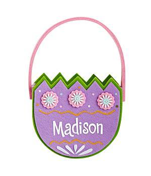 Springtime Egg Basket - Purple