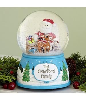 Personalized Rudolph the Red-Nosed Reindeer Musical Snow Globe
