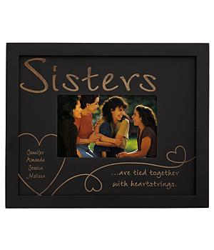 Heartstrings Wood Frame - Sisters - Ebony