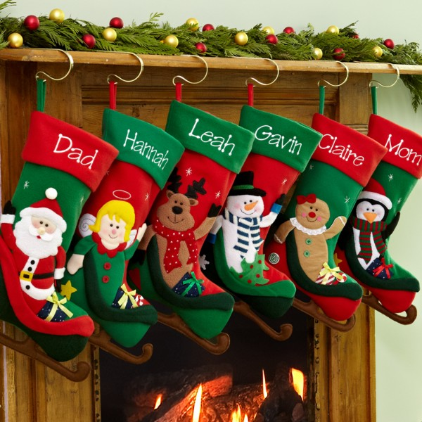 Personalized Christmas Sleigh Stocking - Christmas Stockings