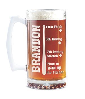 Sportsaholic Beer Mug - Baseball