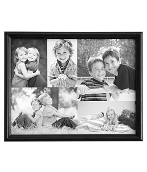 Framed Photo Collage Canvas - 16 x 20 - Black & White
